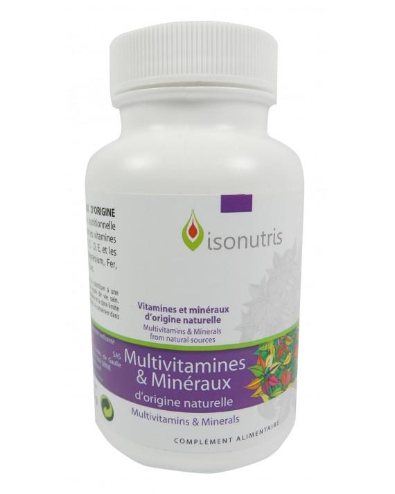 Multivitamines et Minéraux d'origine naturelle 60 gél 20 j
