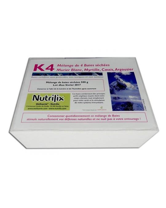 Super Baies Santé K4 Digestion, Ballonnements, 500G 30 j