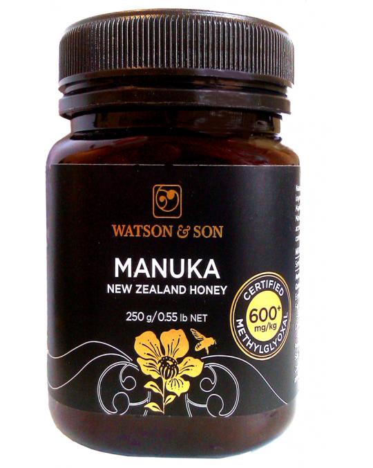 Miel Manuka MG600+  250g, haute teneur méthylgloxal, Antioxydant, Défenses naturelles